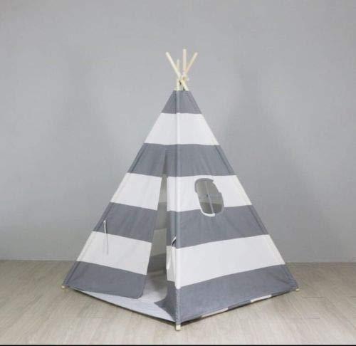 Integrity Co Erstklassiges Indianerzelt Tipi aus Spitze für Kinder. Kinder Spielzelt / Spielhaus / Wigwam (grau)