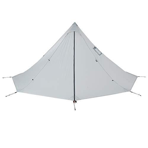 OneTigris   Black Orca Chimney Tipi Zelt mit Herd Loch, 2 Personen Smokey Hut Zelt für Trekking Camping Outdoor Doppeltes Shelter Wasserdicht  MEHRWEG Verpackung