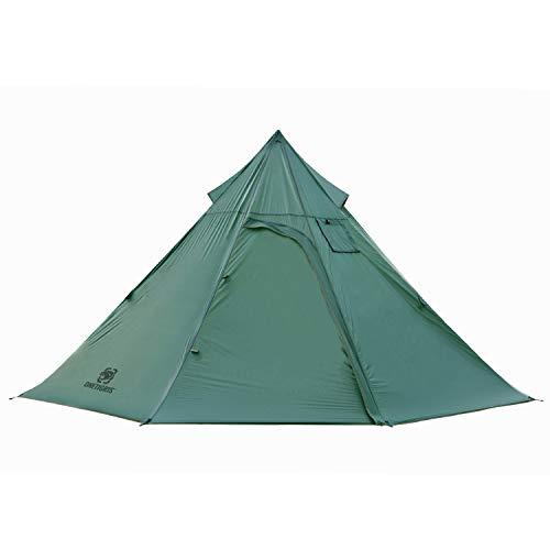 OneTigris| Black Orca Iron Wall Kaminzelt 7-Sided 2-Kammer Single Tipi Zelt für Trekking Camping Outdoor