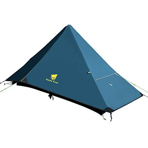 GEERTOP Trekkingzelt Einmannzelt Ultraleichtes zelt Vorzelt Backpacking Zelt 4-Jahreszeit Leichte Wasserdichte Camping Zelt für Bergsteigen Wandern Reise