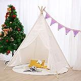 AcTek Tipi Zelt für Kinder Innen Draussen Kinder Spielzelt Spitze Teepee Indianerzelt Kinderzelt(145cm hoch) (Stil 2)