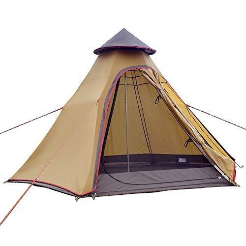 Sport Tent wasserdichte Campingzelt Familienzelt Tipi Zelt Outdoor Doppelschichten Teepee 3.1M / 10ft Pyramidenzelt Indianzelt mit festen Groundsheet, Khaki