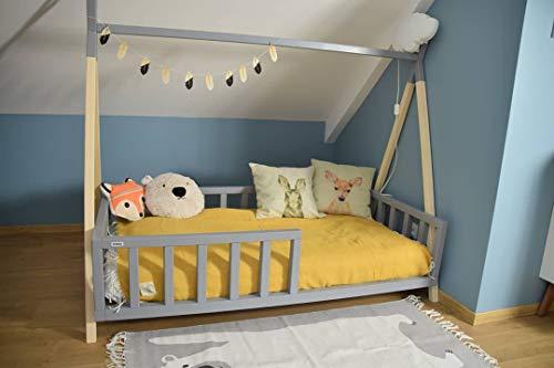 Kinderbett Tipi Indianer Bett Hausbett Zelt in versch. Größen (140x70 cm)