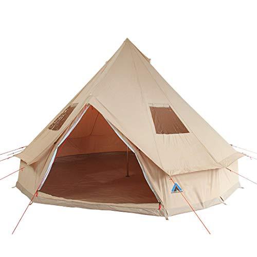 10T Camping-Zelt Desert 8 wasserdichtes 4 - 8 Mann Familienzelt Tipi aus Baumwolle-Mischgewebe