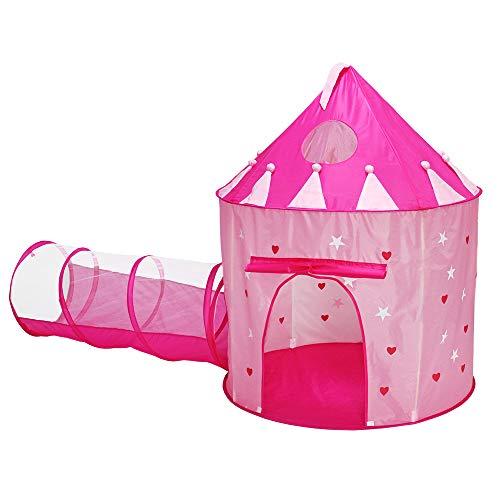 ACTNOW Kinderzelt Set Tunnel Glowing Castle Zelt Klapp Kinderzelt Geburtstag Geschenk Kinder-spielhaus