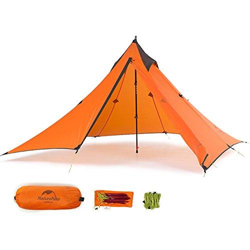 """Ultraleichtes """"Naturehike""""-Pyramidenzelt für 3Jahreszeiten, zum Camping, Wandern und Bergsteigen, the outer tent"""
