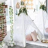 Spitze Tipi Zelt für Kinder Innen Draussen Kinder Spielzelt, Boho Spitze Teepee (150cm hoch)