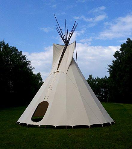komplettes Ø 4m Tipi Indianerzelt Wigwam Indianer Zelt Sioux, Yakari Style Indianertipi